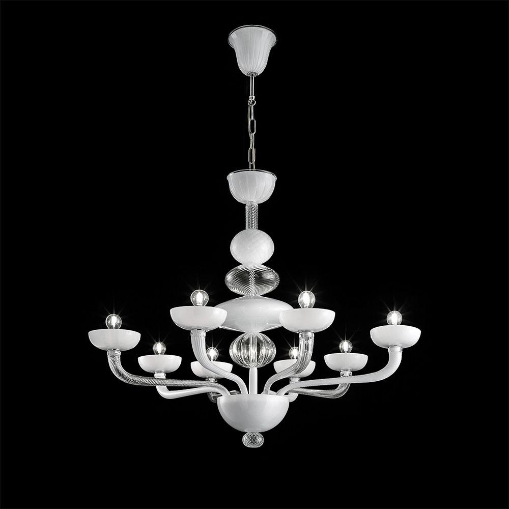 Lampadario Vetro Soffiato Murano.Moonlight 6 Lights Chandelier Murano Glass Chandeliers I