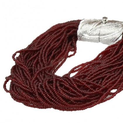 Arianna, bracelet bordeaux