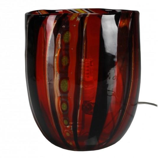 Fantasy, multicolor table lamp, color base white