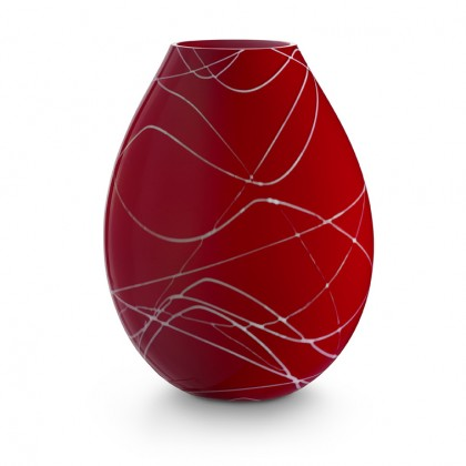 "Ambiente, Red Lamp - White ""Ragnatela"""