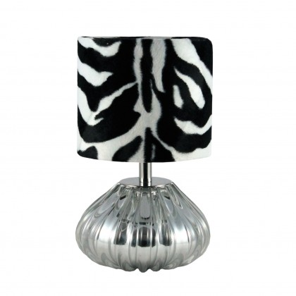 Dogaressa Table Lamp, Chrome Crystal