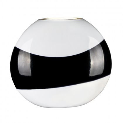 "Oikos White Table Lamp ""Mou"" with Black Stripe"